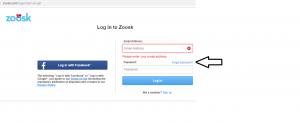 Zoosk forgot password